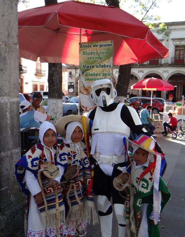El pasado domingo tuvimos la visita de uno de los personajes de Star Wars