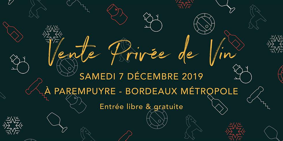 Vente Privée de Vins - Noël 2019