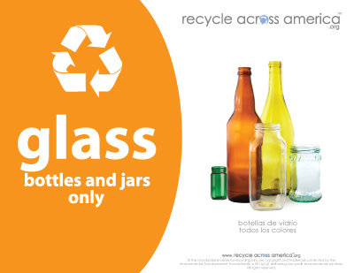"Glass - Recycling Label 8.5"" x 11''"