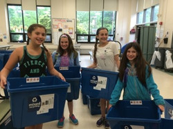 Students with new labels!