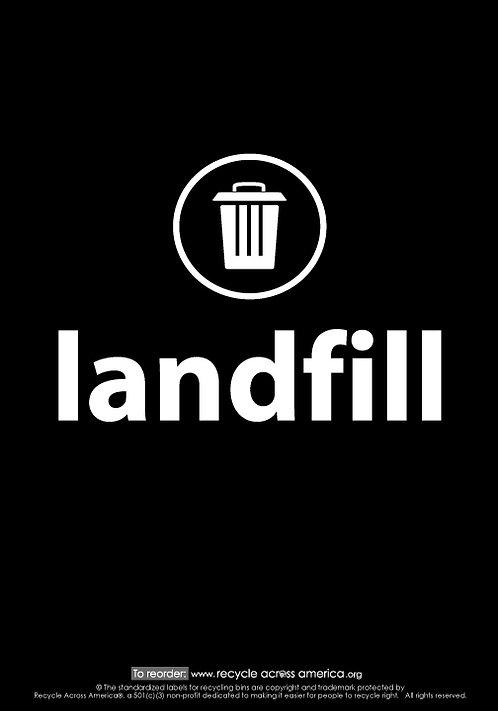 "Landfill - Label 7"" x 10"""