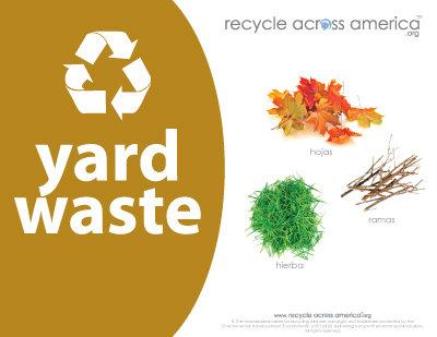 """Yard Waste - Label 8.5"""" X 11"""""""
