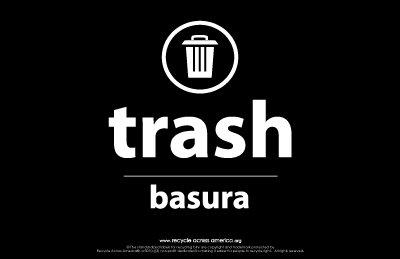"Trash - Label 5.5"" X 8.5"""