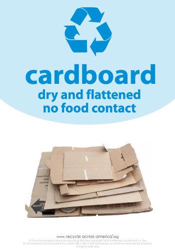 "Cardboard - Recycling Label 7"" x 10"