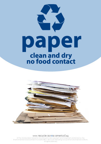 "Paper - Recycling Label 7"" x 10"