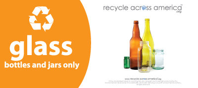"Glass - Recycling Label 4"" x 9"""