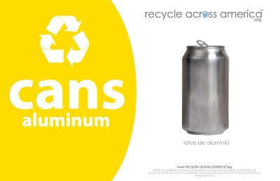 "Aluminum Cans - Recycling Label 5.5"" X 8.5"""