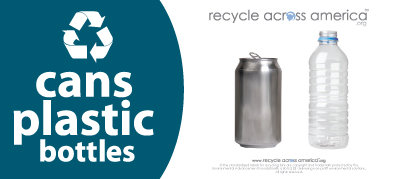 "Cans and Plastic - Recycling Label 4"" x 9"""