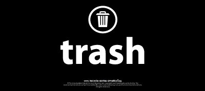 "Trash - Label 4"" x 9"""