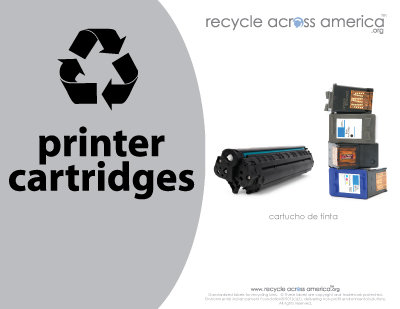 "Printer Cartridges -Recycling Label 8.5"" X 11"""