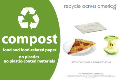 """Compost- Recycling Label 5.5"""" X 8.5"""""""
