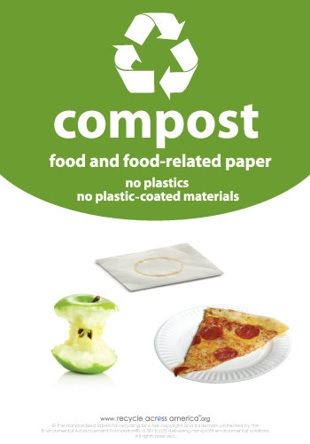 "Compost - Recycling Label 7"" x 10"""