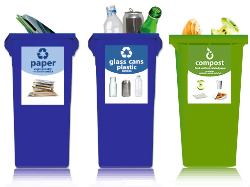 Standardized labels on recycling bins make it possible for society to recycle right!