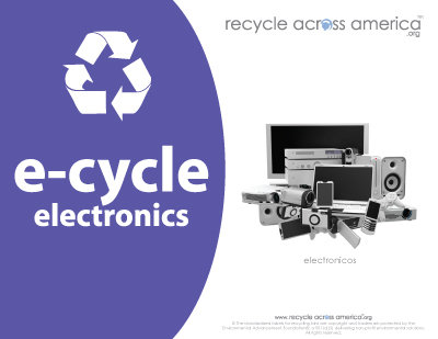 "Electronics -Recycling Label 8.5"" X 11"""
