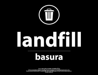 "Landfill - Label 8.5"" X 11"""