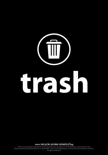 "Trash - Label 7"" x 10"""