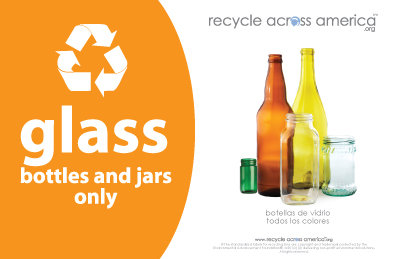 "Glass - Recycling Label 5.5"" X 8.5"""
