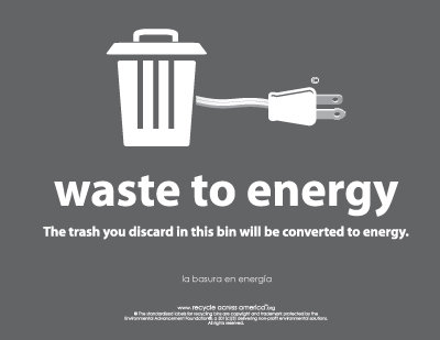 """Waste to Energy  - Label 8.5"""" X 11"""""""