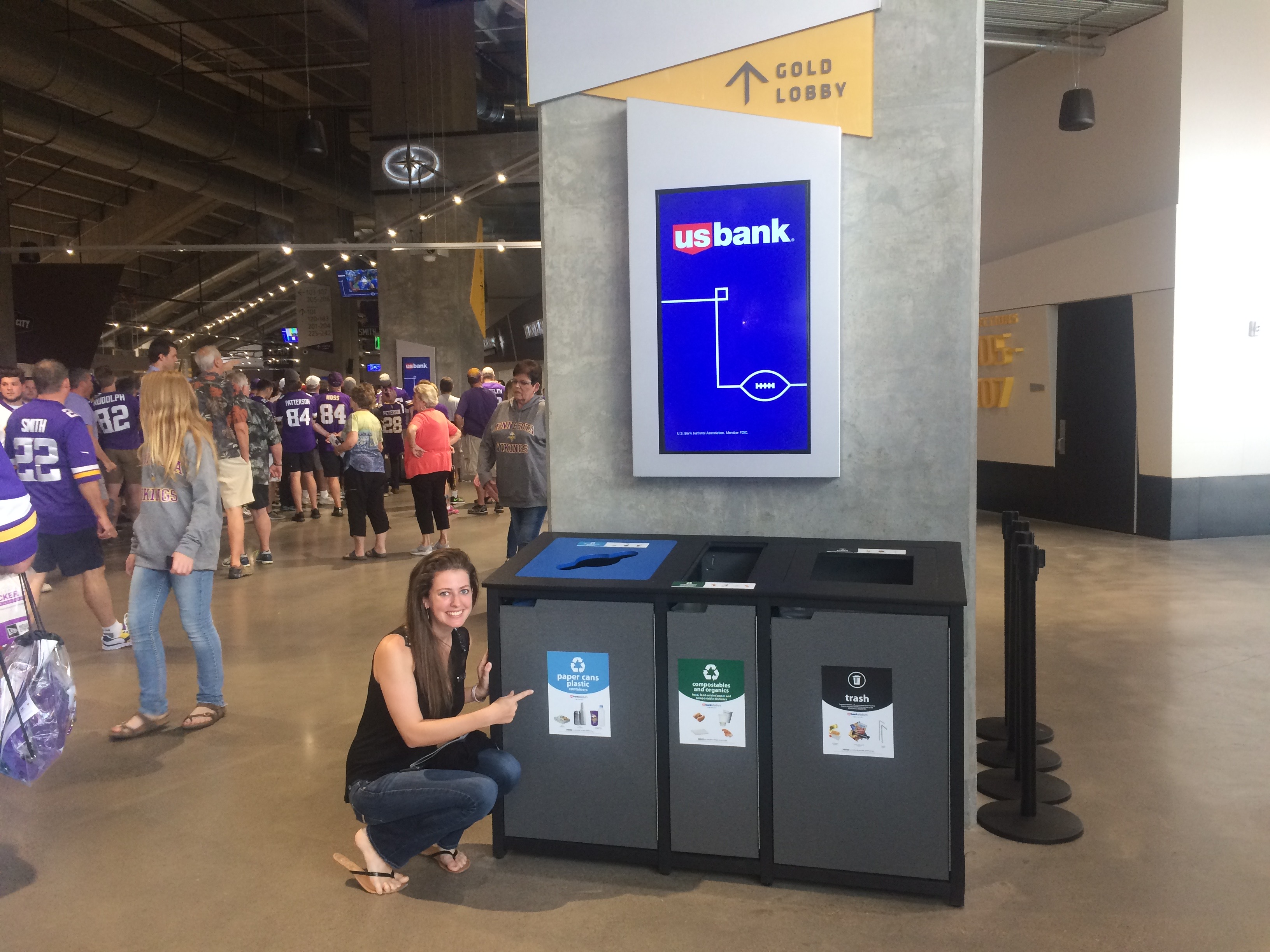 Visitors can now recycle right!