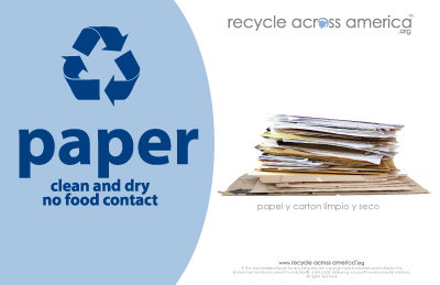 "Paper - Recycling Label 5.5"" X 8.5"""