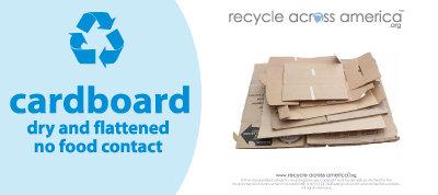 "Cardboard - Recycling Label 4"" x 9"""