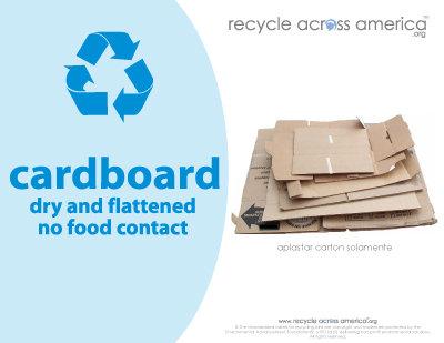 "Cardboard - Recycling Label 8.5"" x 11''"