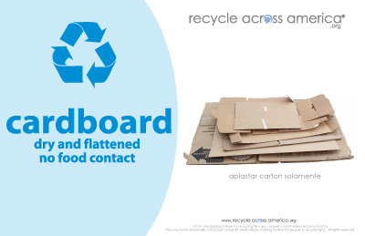 "Cardboard - Recycling Label 5.5"" X 8.5"""