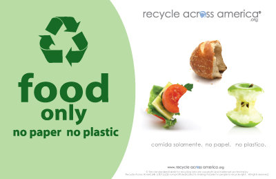 "Food- Recycling Label 5.5"" X 8.5"""