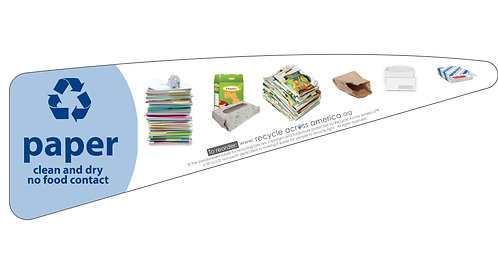 Paper - Standardized Recycling Label (Triangle)