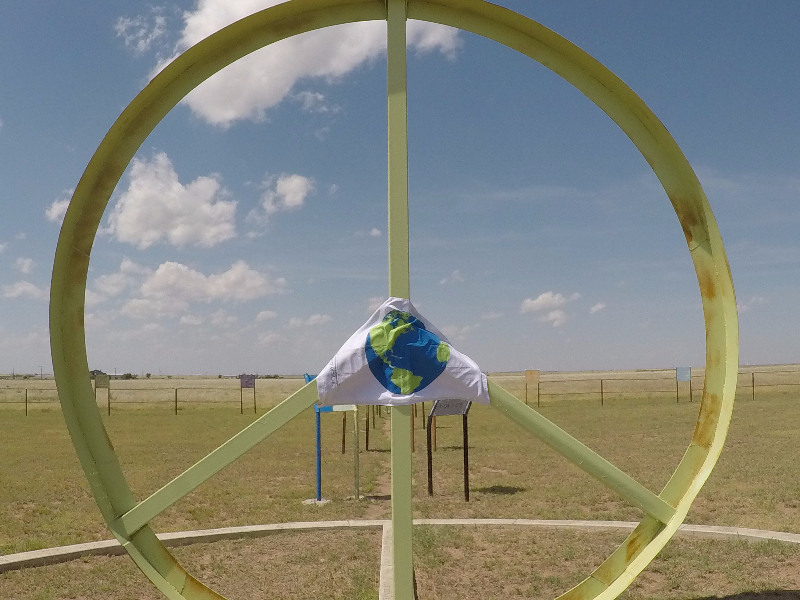 10 miles out of Amarillo there was a beautiful peace garden