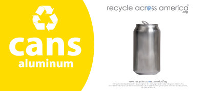 """Aluminum Cans - Recycling Label 4"""" x 9"""""""
