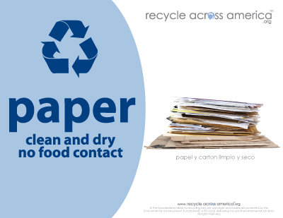 "Paper - Recycling Label 8.5"" x 11''"