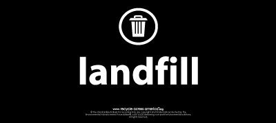 "Landfill - Label 4"" x 9"""