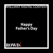 ROWDi Logo for middle title Fathers Day.