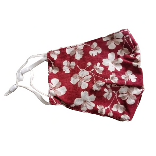Face Mask Floral Red