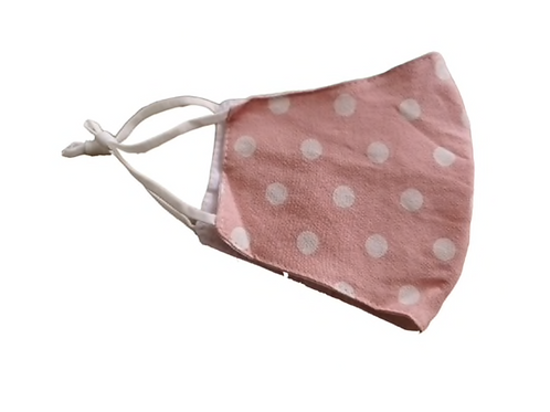 Face Mask Pink Polka Dot