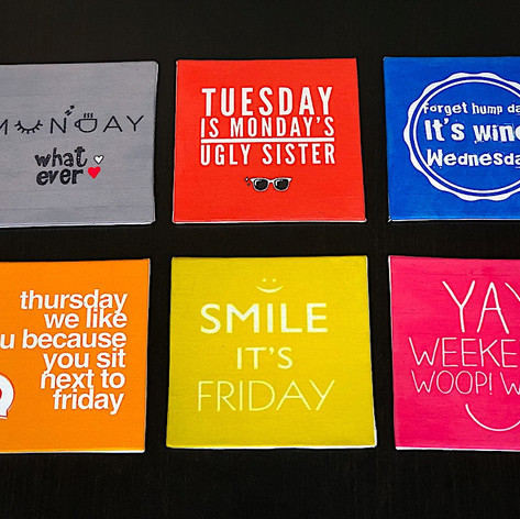 ​Days of the Week Canvas Art