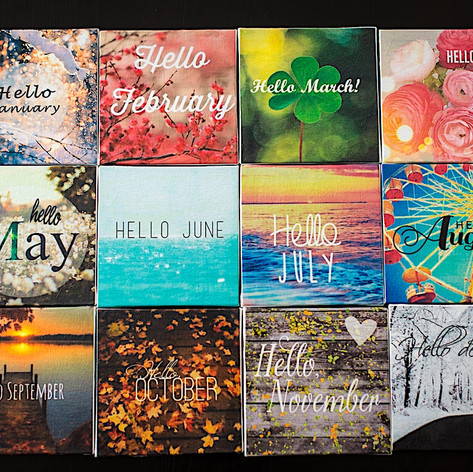 Months of the Year Canvas Art