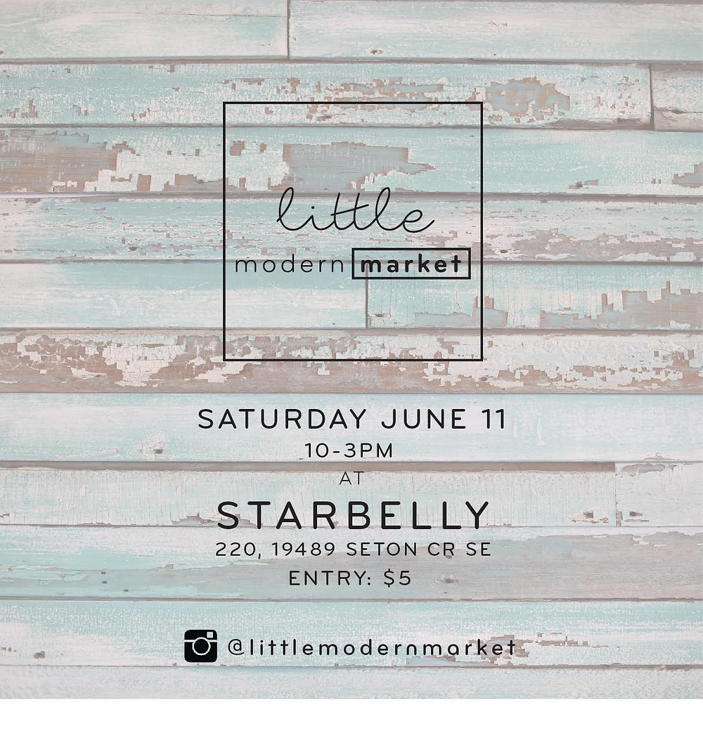 Little Modern Market was created by Lindsay of Modern Tipi and Melissa of Jacob Grace Designs. These two ladies created this market because they felt that a cool, modern market needed to come to the suburbs - more specifically, in an area that is surrounded by new communities, filled with young professional families.