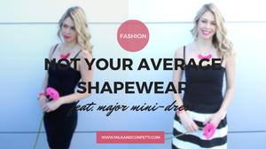 Not your average shape wear featuring major mini dress in black