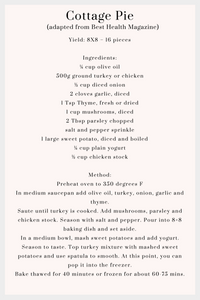 cottage pies receipe