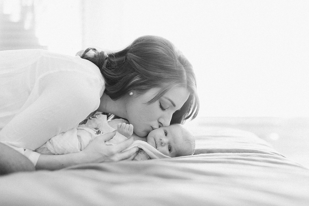 My goal for this session was to preserve the quiet (and sometimes not!) moments of their new life together in their little home. Jill snuggled, nursed, and rocked Odette. I wanted them to just be. No schedule. No props. Just enjoying their relationship on the outside of mama's belly.
