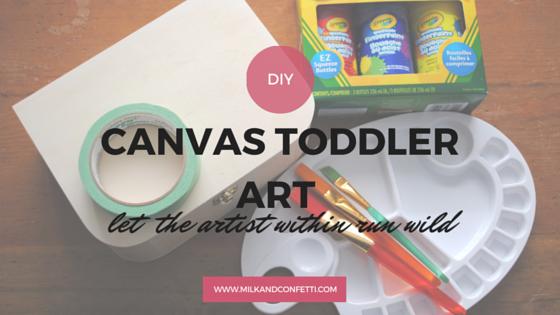 original canvas toddler art
