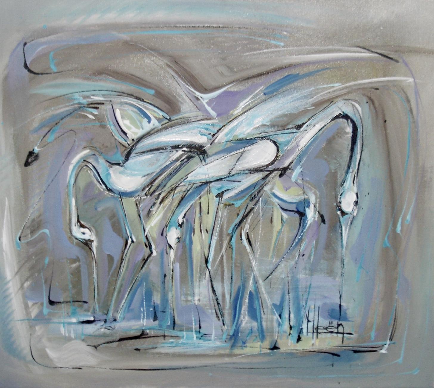 Blauwe Vogels 60*70