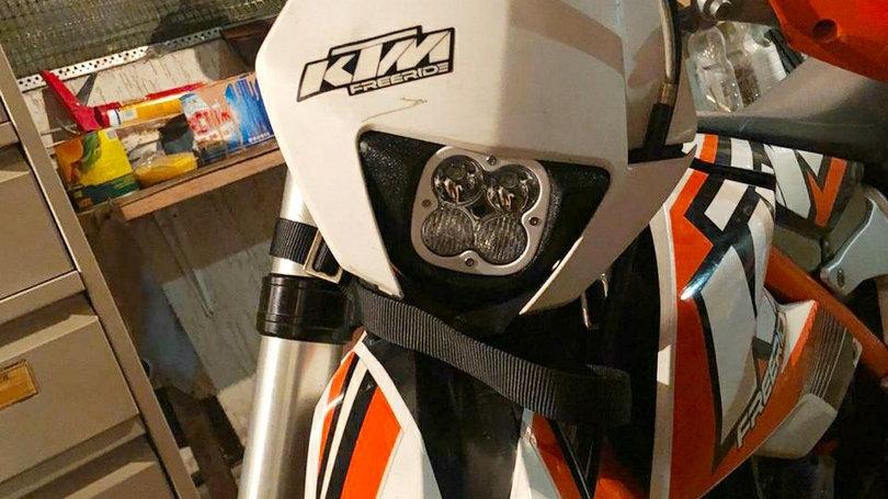 Светодиодная фара на KTM Freeride Gr2