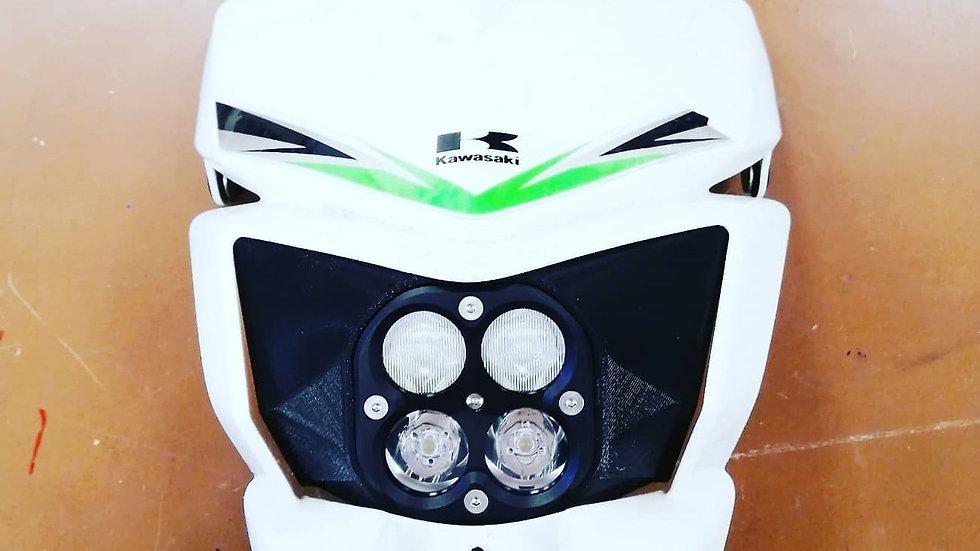 Светодиодная фара на Kawasaki klx