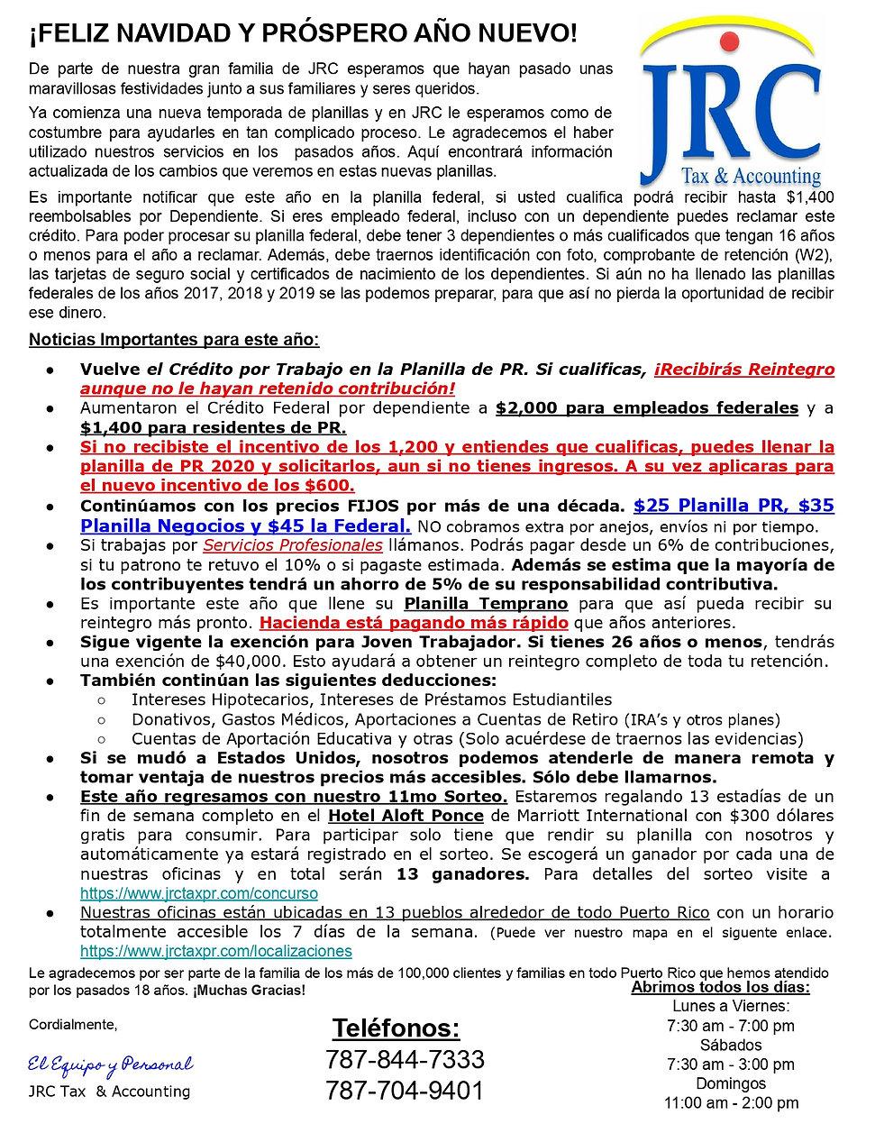 Carta de JRC
