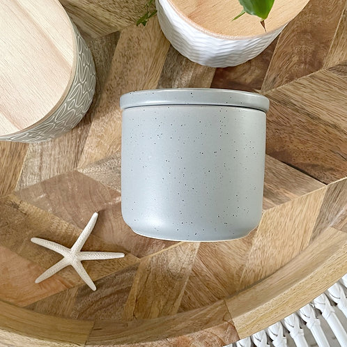 Grey Speckled Ceramic Soy Candle Limited Edition
