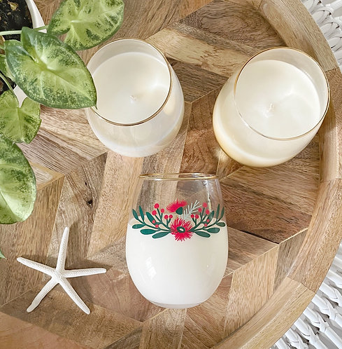 Australian Native Stemless Wine Glass Soy Candle