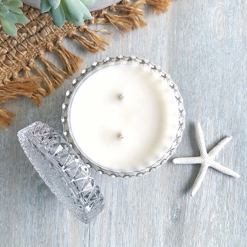 Clear Mandala Canister Soy Candle